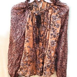 Free People Blouse with Tassles